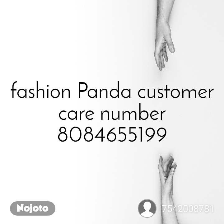 fashion Panda customer care number 8084655199