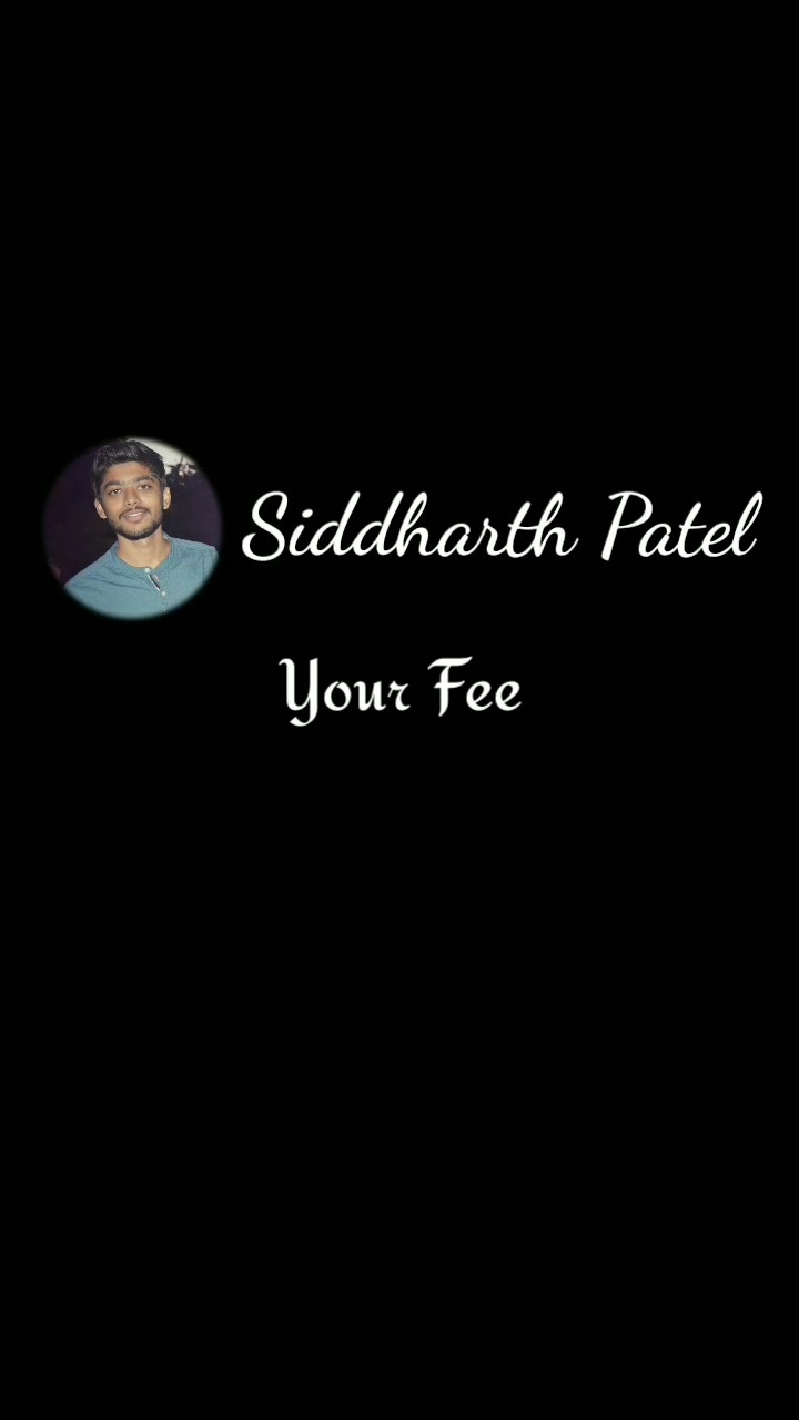 A Poetry By : Siddharth Patel ❤