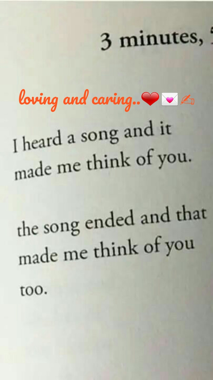 loving and caring..❤💌✍