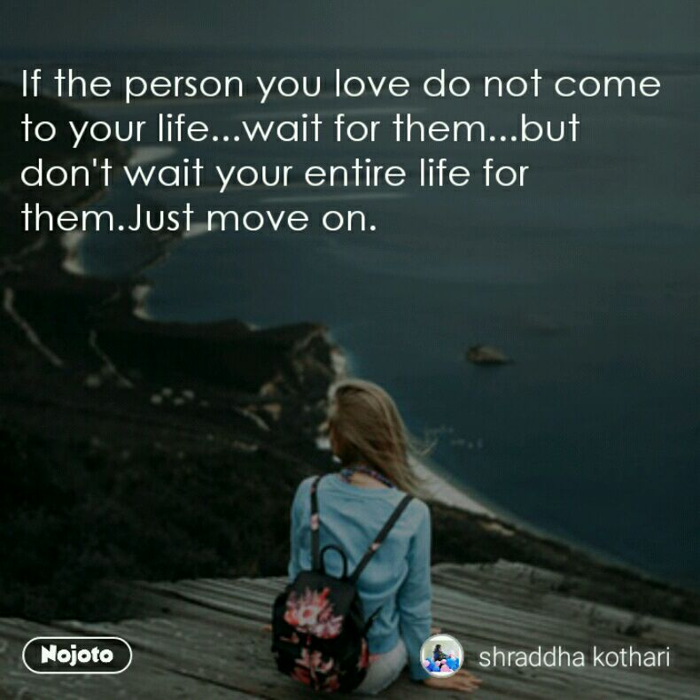 How to wait for someone you love