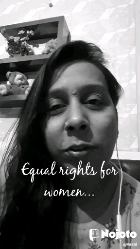 Equal rights for women...