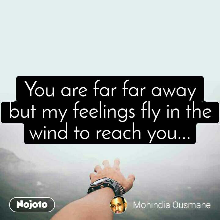You are far far away but my feelings fly in the wind to reach you...