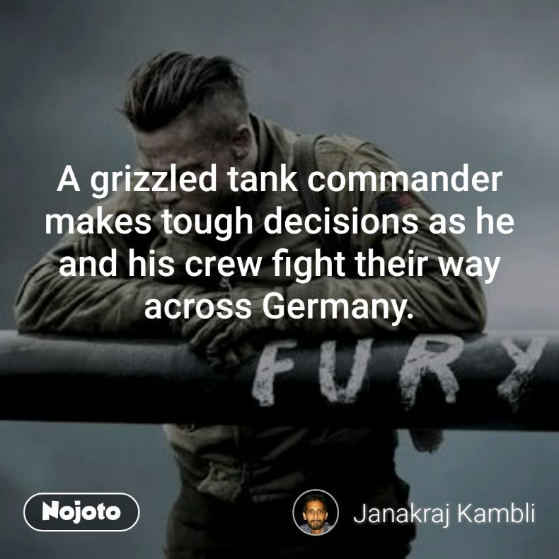 A grizzled tank commander makes tough decisions as he and his crew fight their way across Germany.