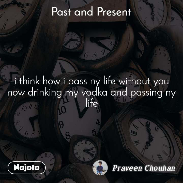 Past and present i think how i pass ny life without you now drinking my vodka and passing ny life