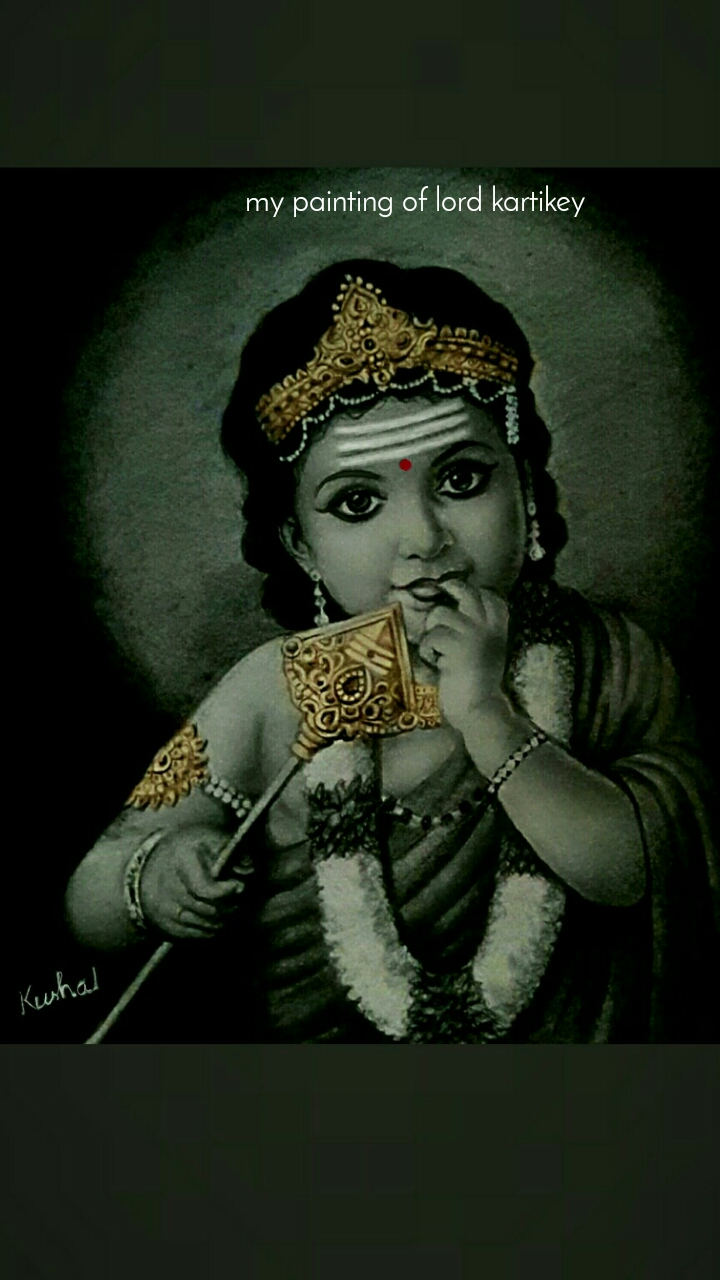 my painting of lord kartikey