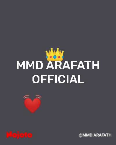 MMD ARAFATH OFFICIAL 👑 💓
