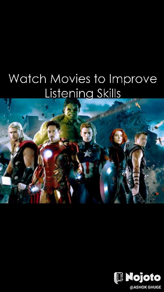 Watch Movies to Improve Listening Skills