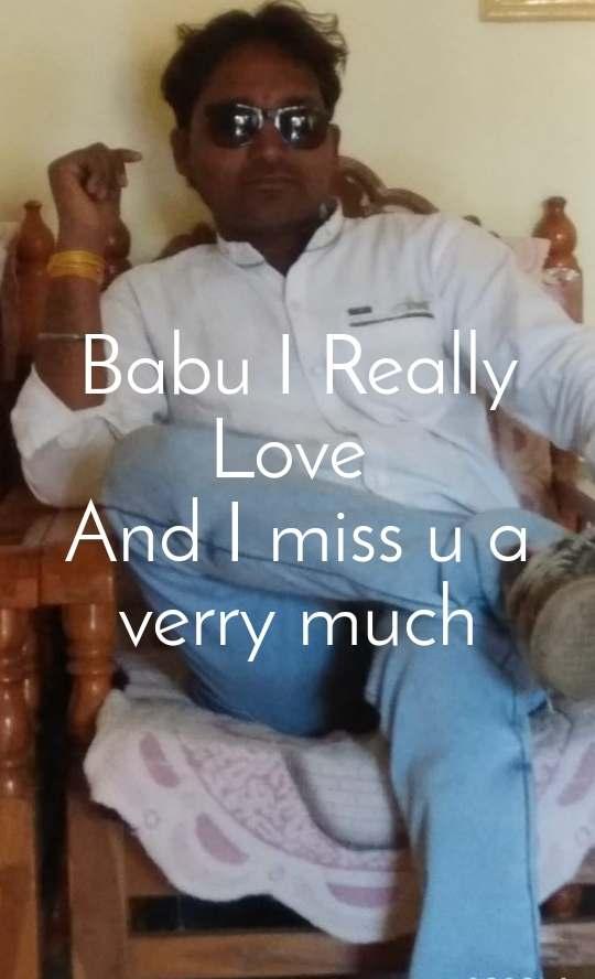 Babu I Really Love  And I miss u a verry much