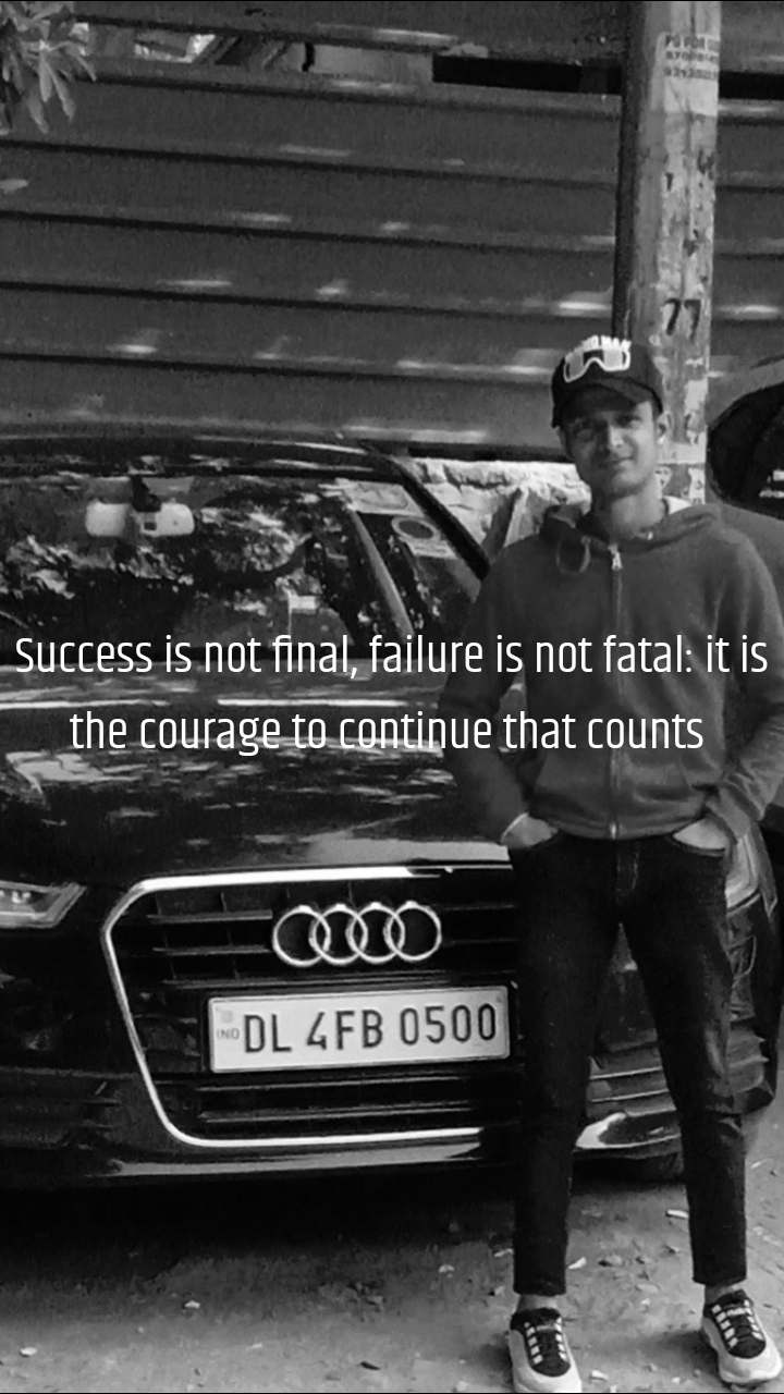 Success is not final, failure is not fatal: it is the courage to continuethat counts