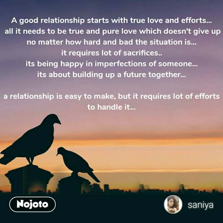 relationship quotes A good relationship starts wit | Nojoto