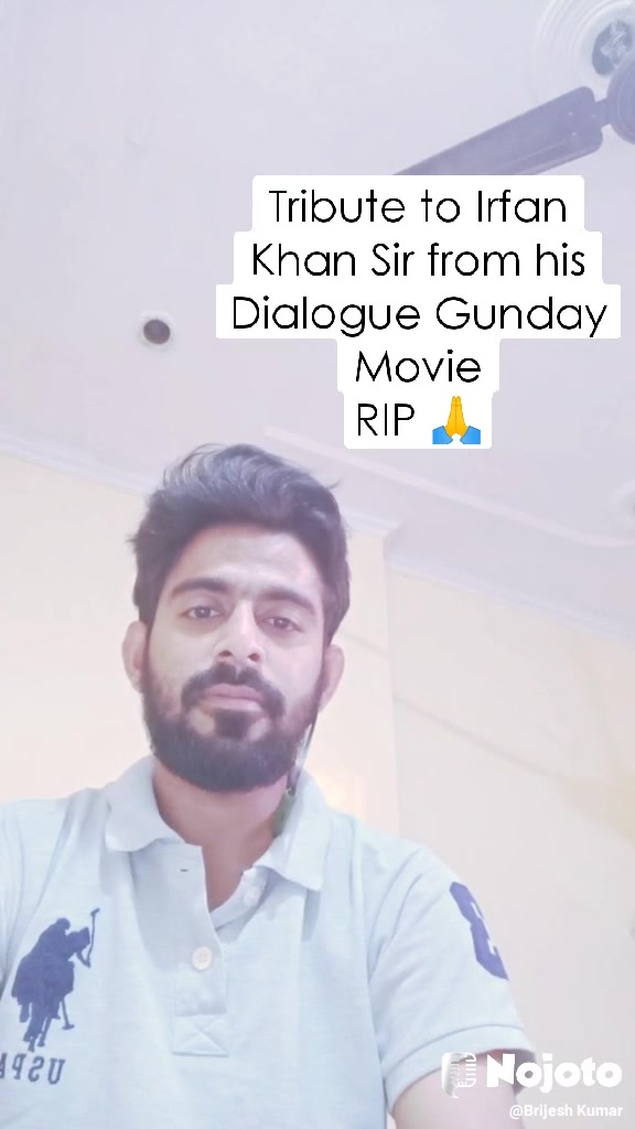 Tribute to Irfan Khan Sir from his Dialogue Gunday Movie RIP 🙏