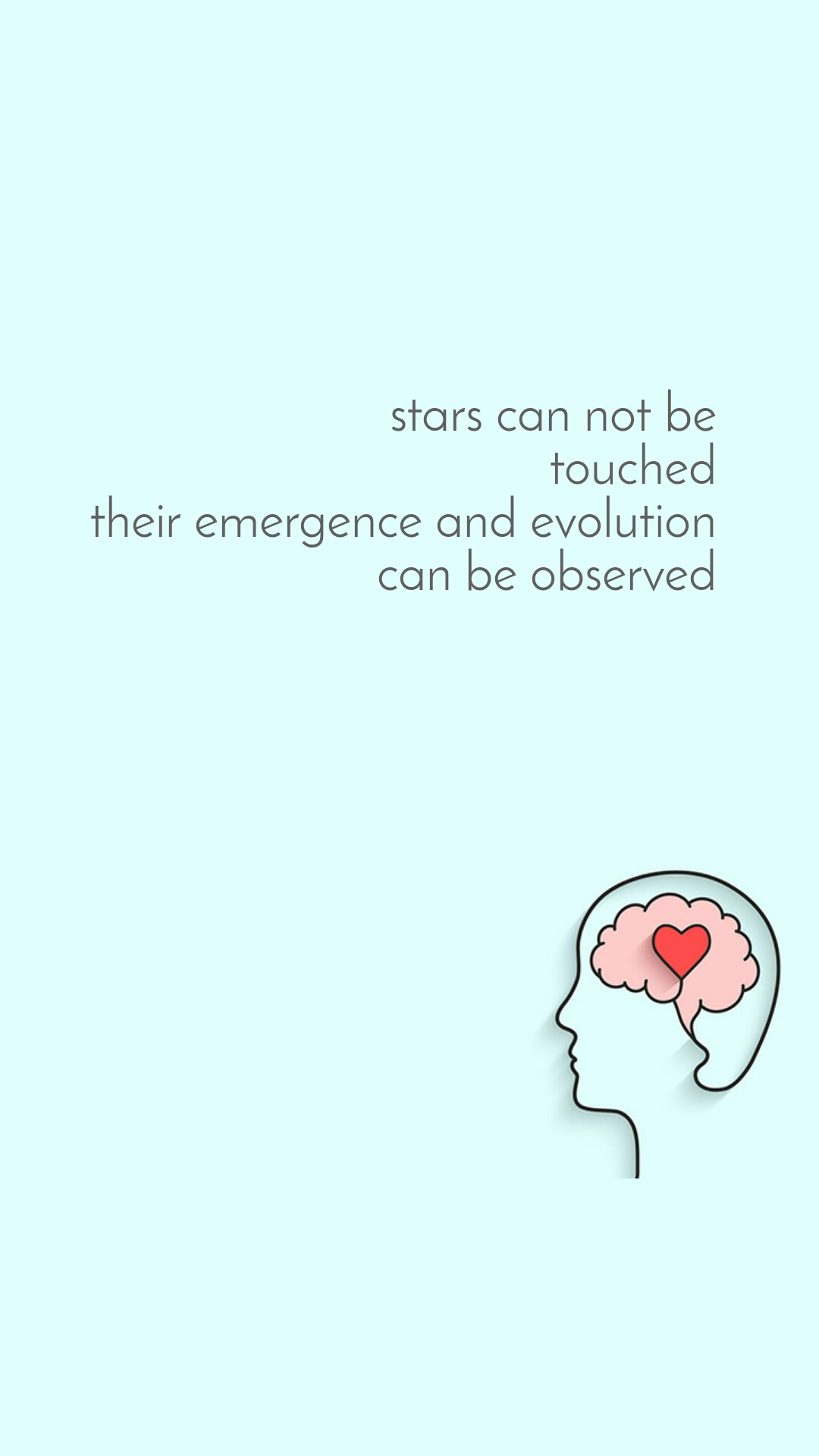 stars can not be touched their emergence and evolution can be observed