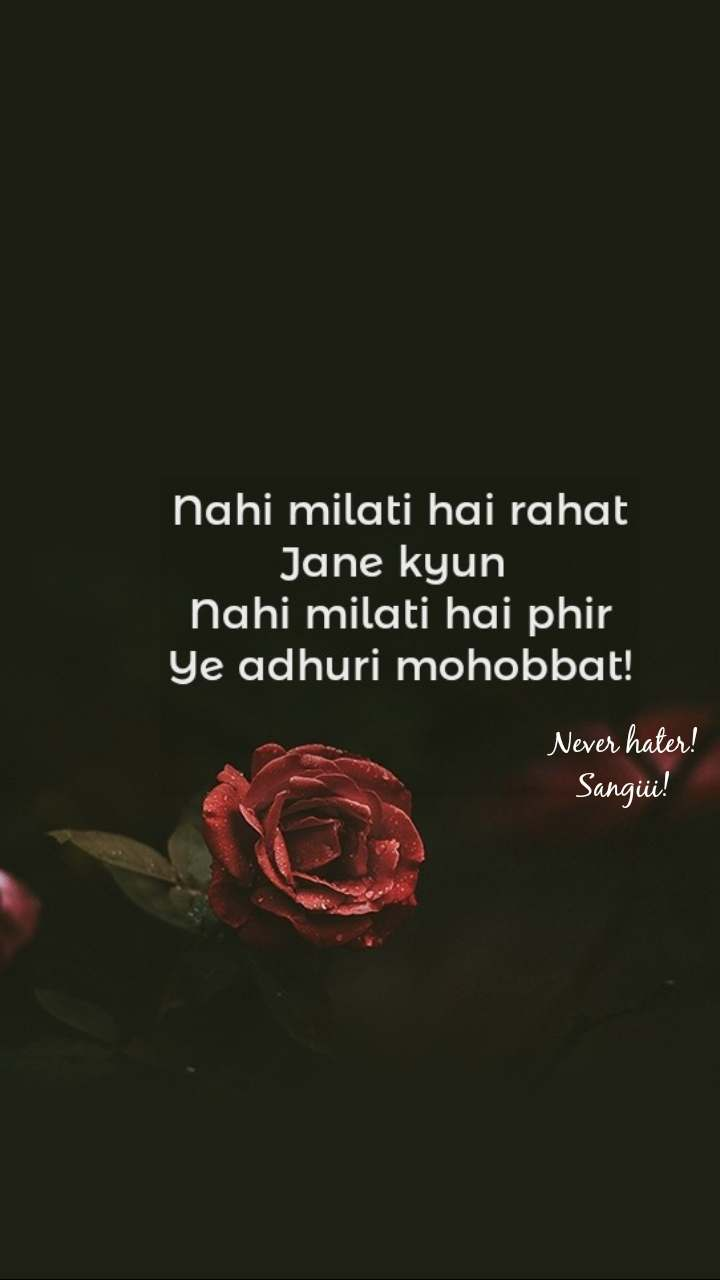 Never hater! Sangiii!