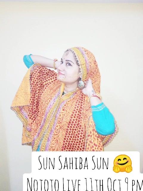 Sun Sahiba Sun 🤗 Nojoto Live 11th Oct 9 pm