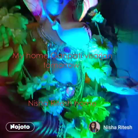 My home Ganpati visarjan tomorrow     Nisha Ritesh home