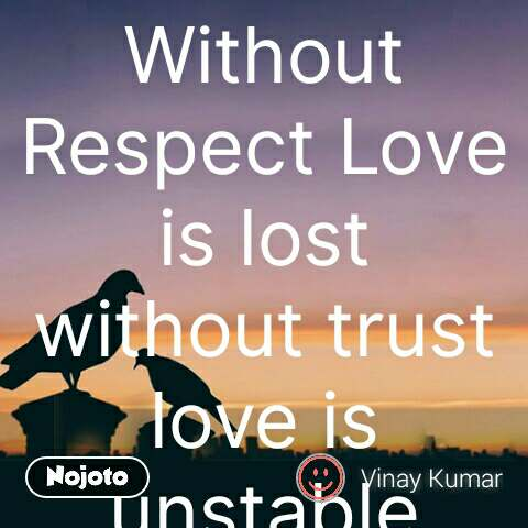relationship quotes Without Respect Love is lost w | Nojoto
