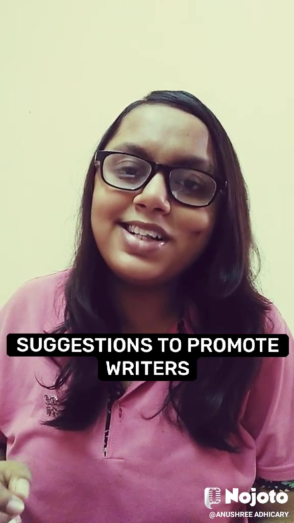 SUGGESTIONS TO PROMOTE WRITERS