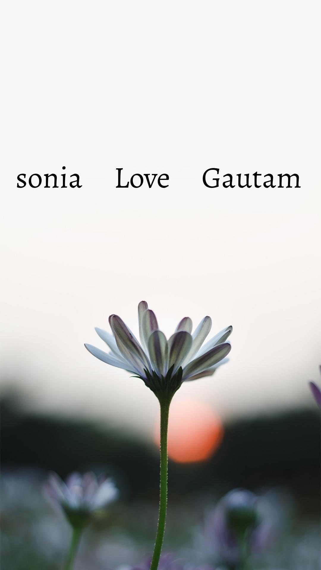 sonia     Love     Gautam