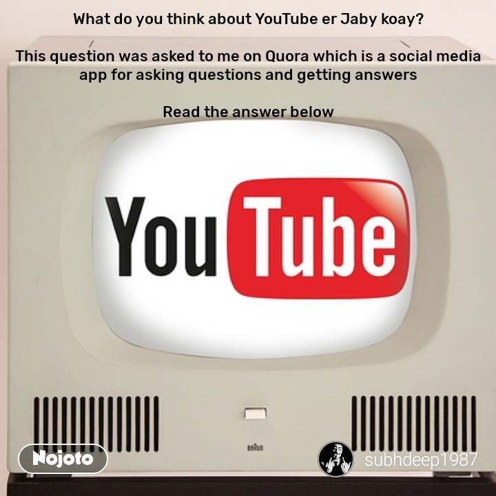 What do you think about YouTube er Jaby koay?  This question was asked to me on Quora which is a social media app for asking questions and getting answers  Read the answer below