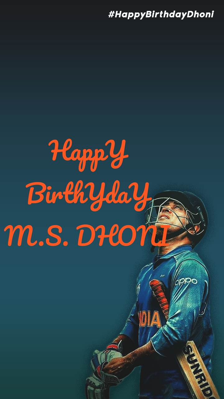HappY BirthYdaY M.S. DHONI