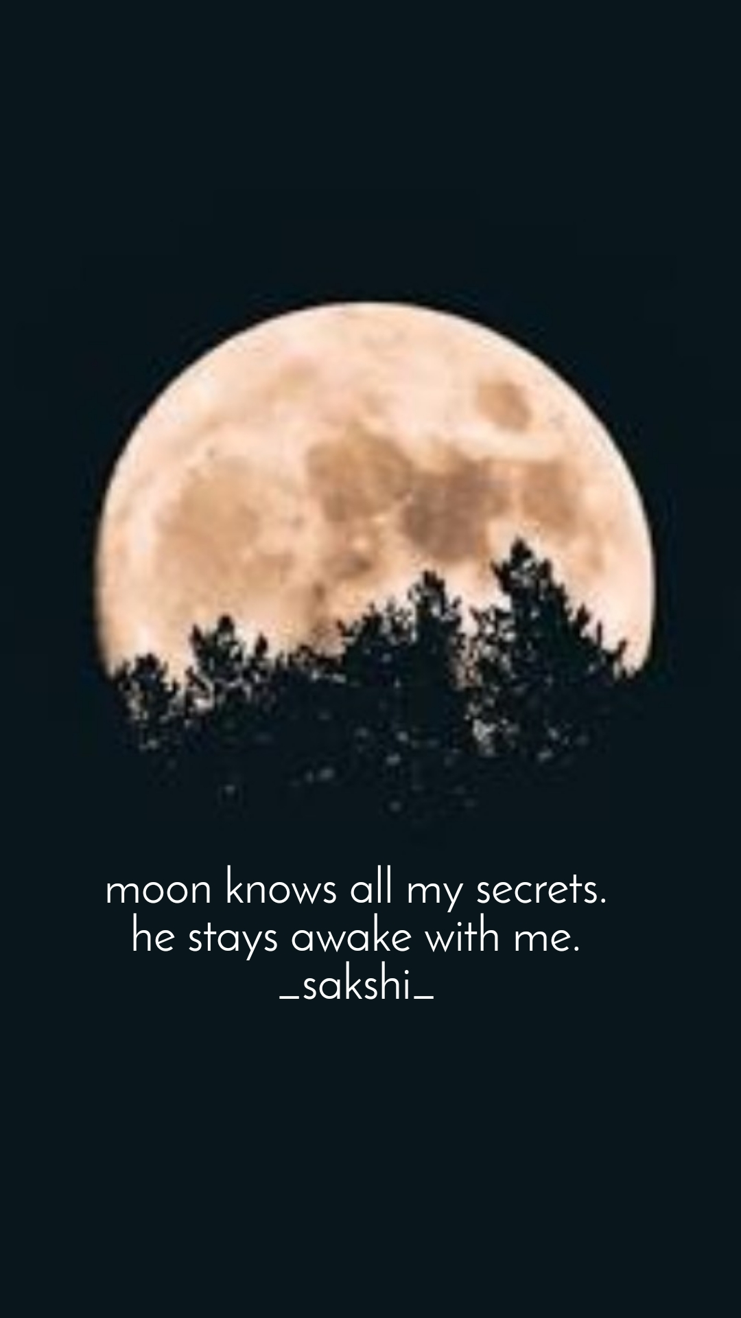 moon knows all my secrets. he stays awake with me. _sakshi_