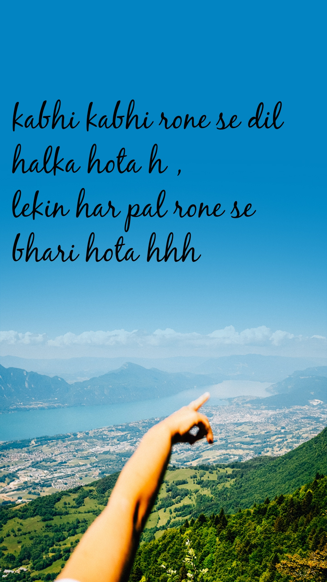 kabhi kabhi rone se dil  halka hota h ,  lekin har pal rone se  bhari hota hhh