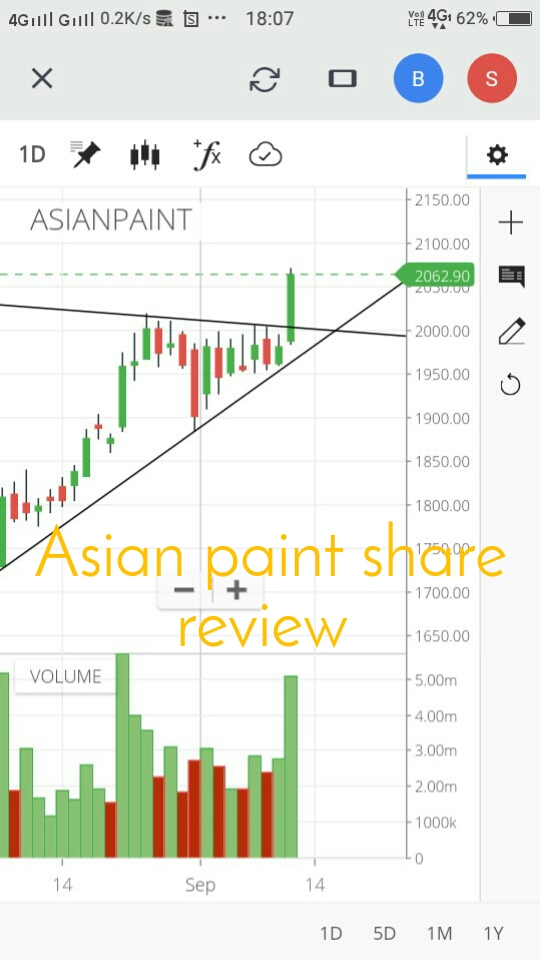 Asian paint share review