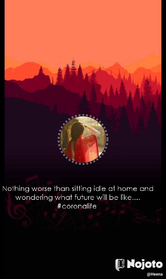 Nothing worse than sitting idle at home and wondering what future will be like.... #coronalife