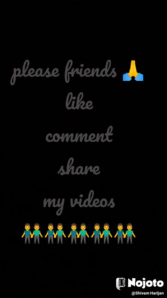 please friends 🙏 like comment share my videos 👬👬👬👬👬