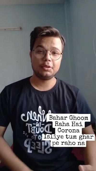 Bahar Ghoom Raha Hai Corona Isliye tum ghar pe raho na