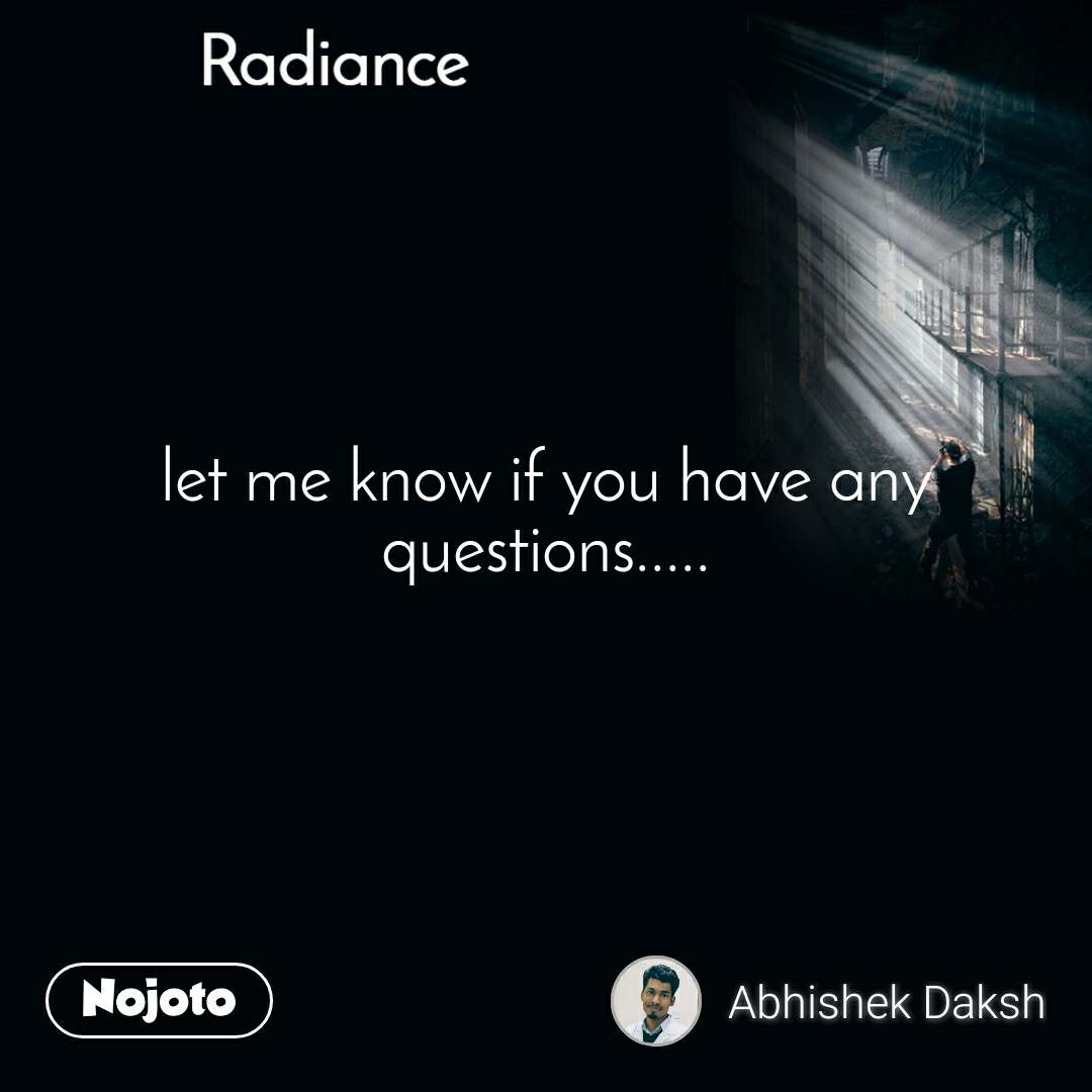 Radiance let me know if you have any questions.....