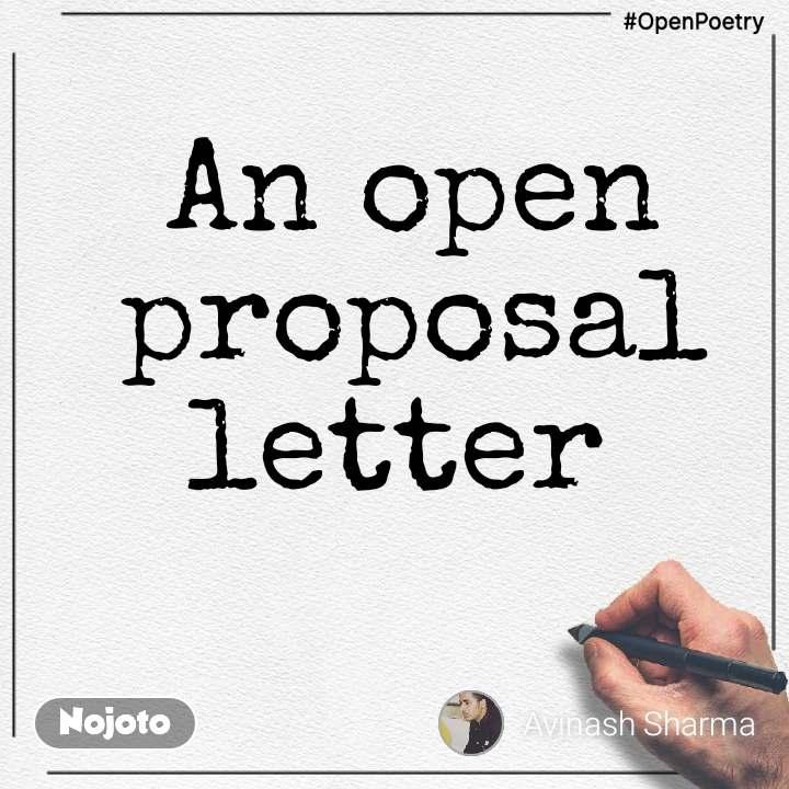 #OpenPoetry An open proposal letter