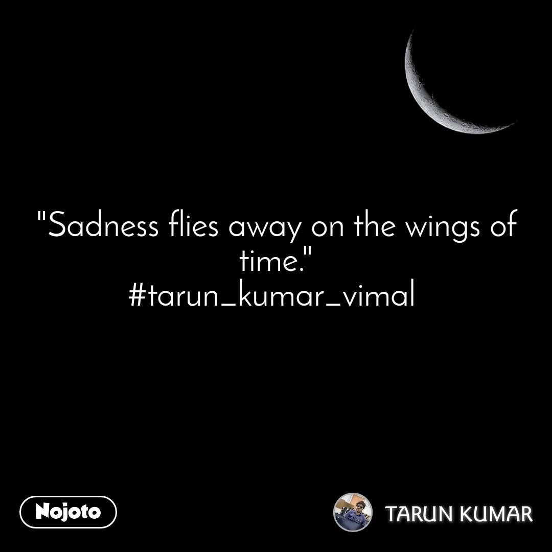 """Sadness flies away on the wings of time."" #tarun_kumar_vimal"