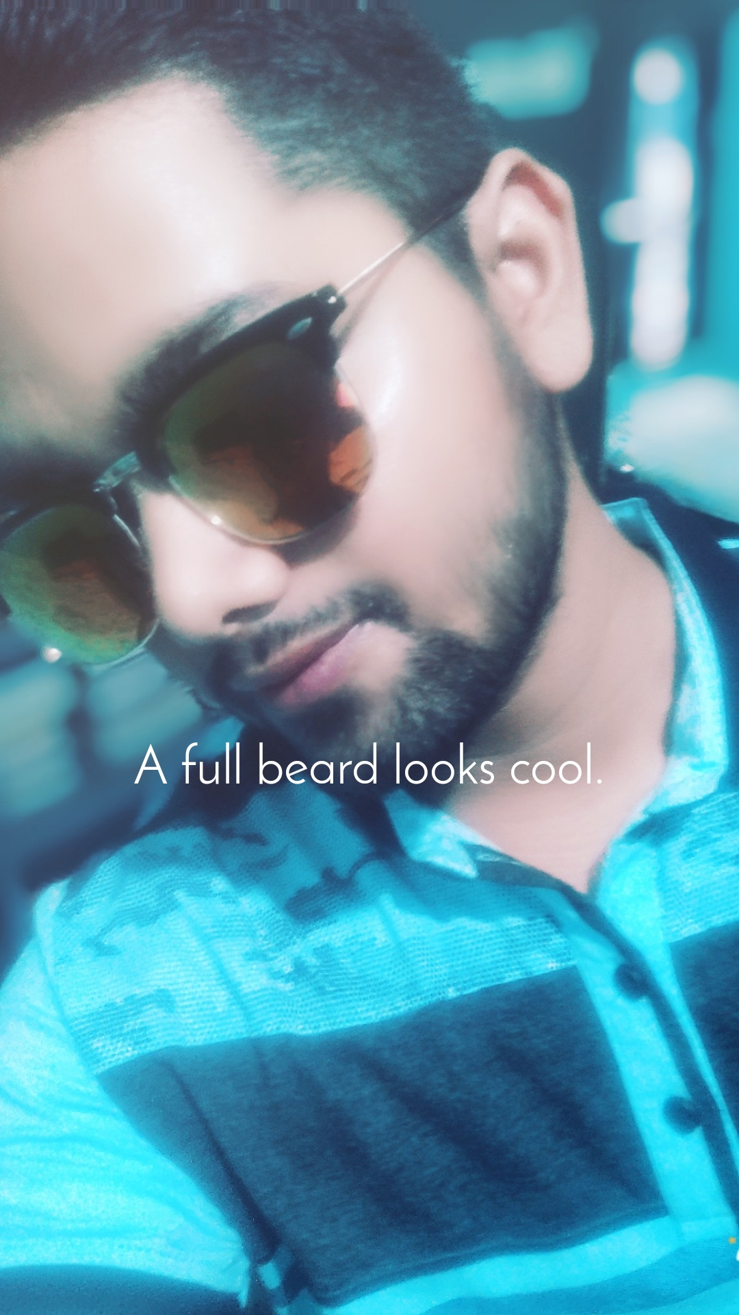 A full beard looks cool.