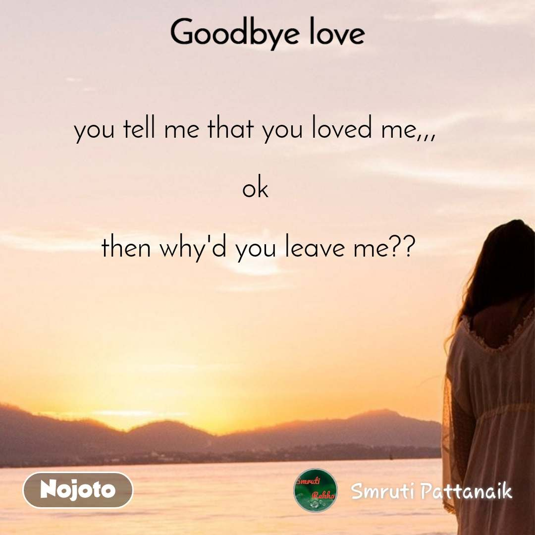 goodbye love you tell me that you loved me ok english quotes