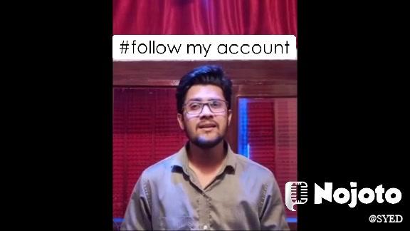 #follow my account