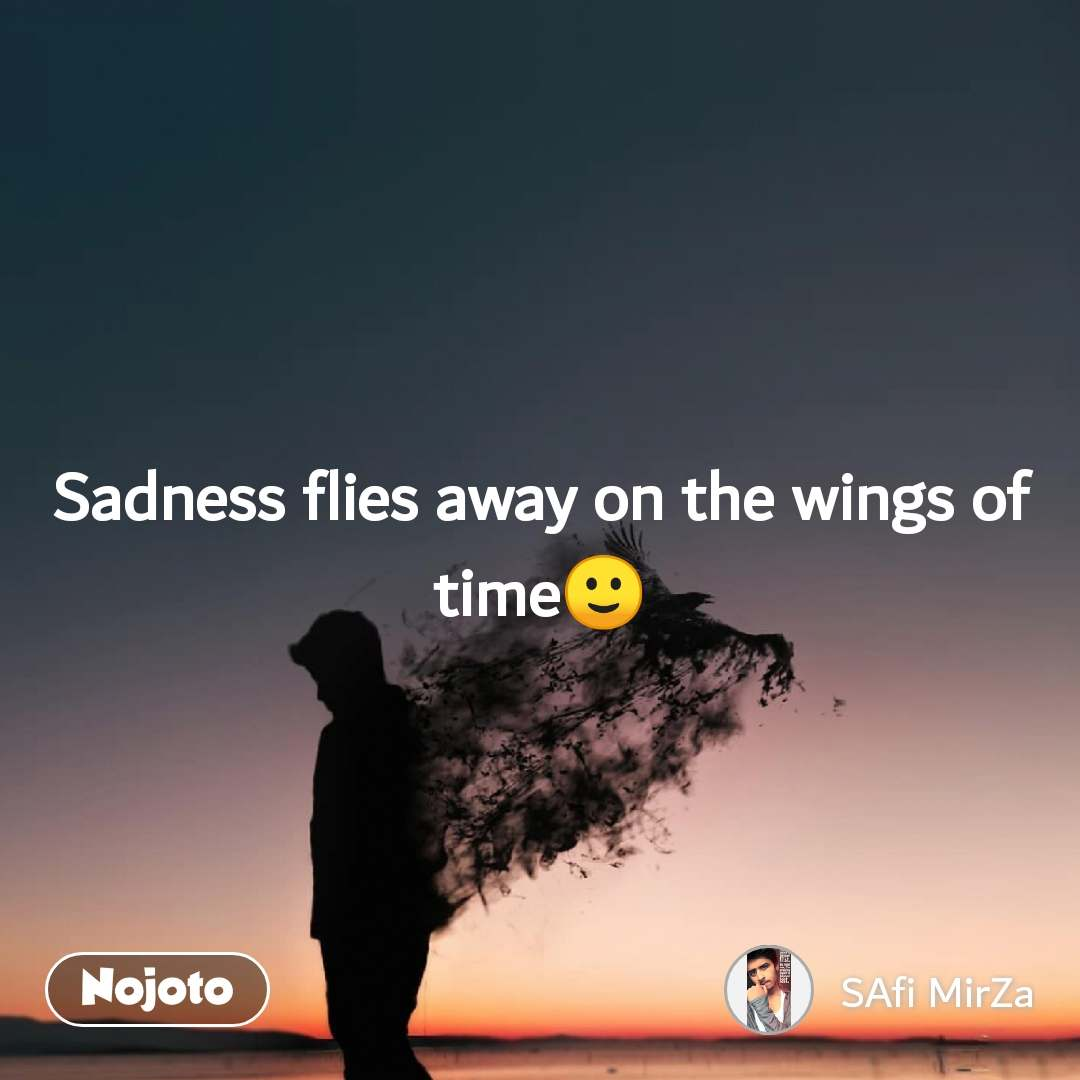 Sadness flies away on the wings of time🙂