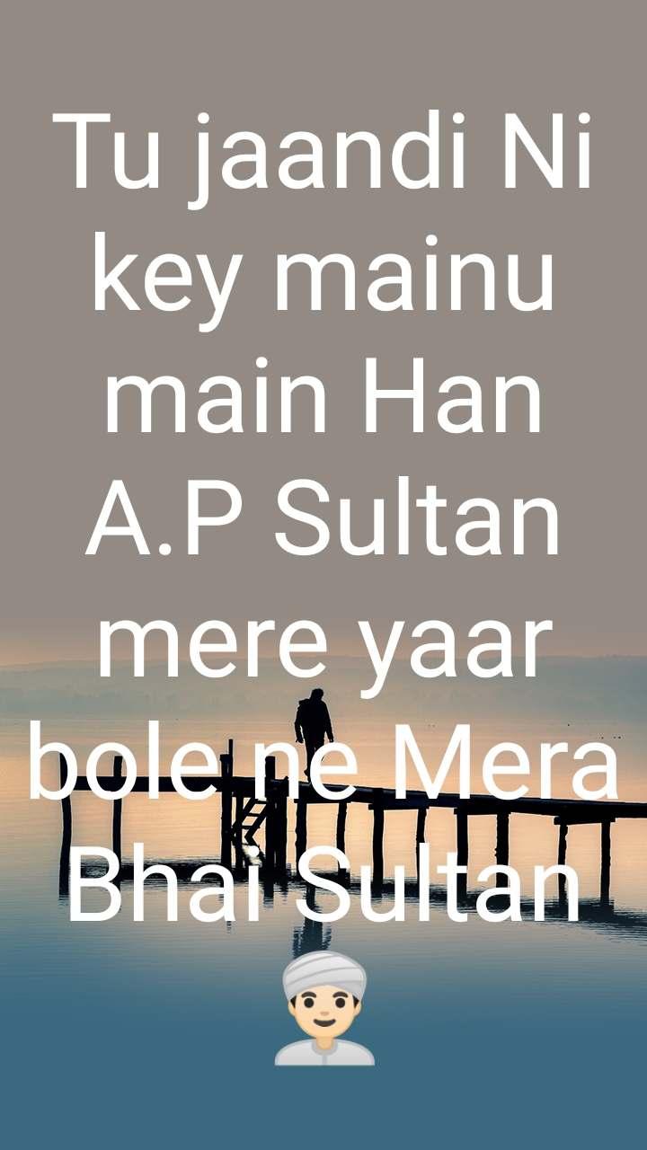 Tu jaandi Ni key mainu main Han A.P Sultan mere yaar bole ne Mera Bhai Sultan 👳🏻♂️