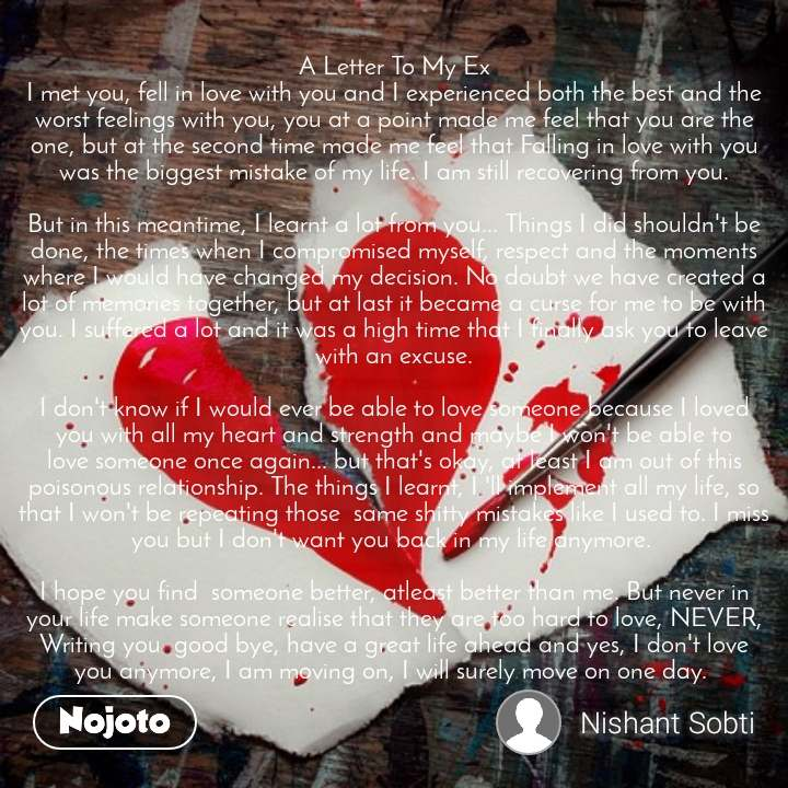 Dearzindagi A Letter To My Ex I Met You Fell In English Story