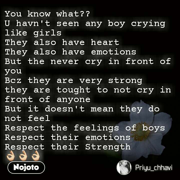 You Know What U Havn T Seen Any Boy Crying Like Nojoto