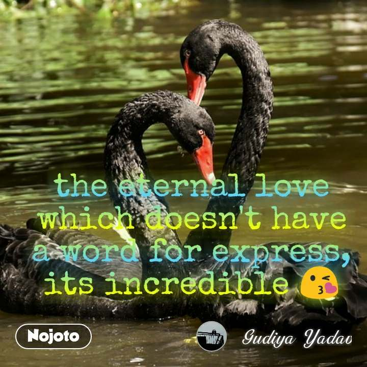 the eternal love which doesn't have a word for express, its incredible 😘