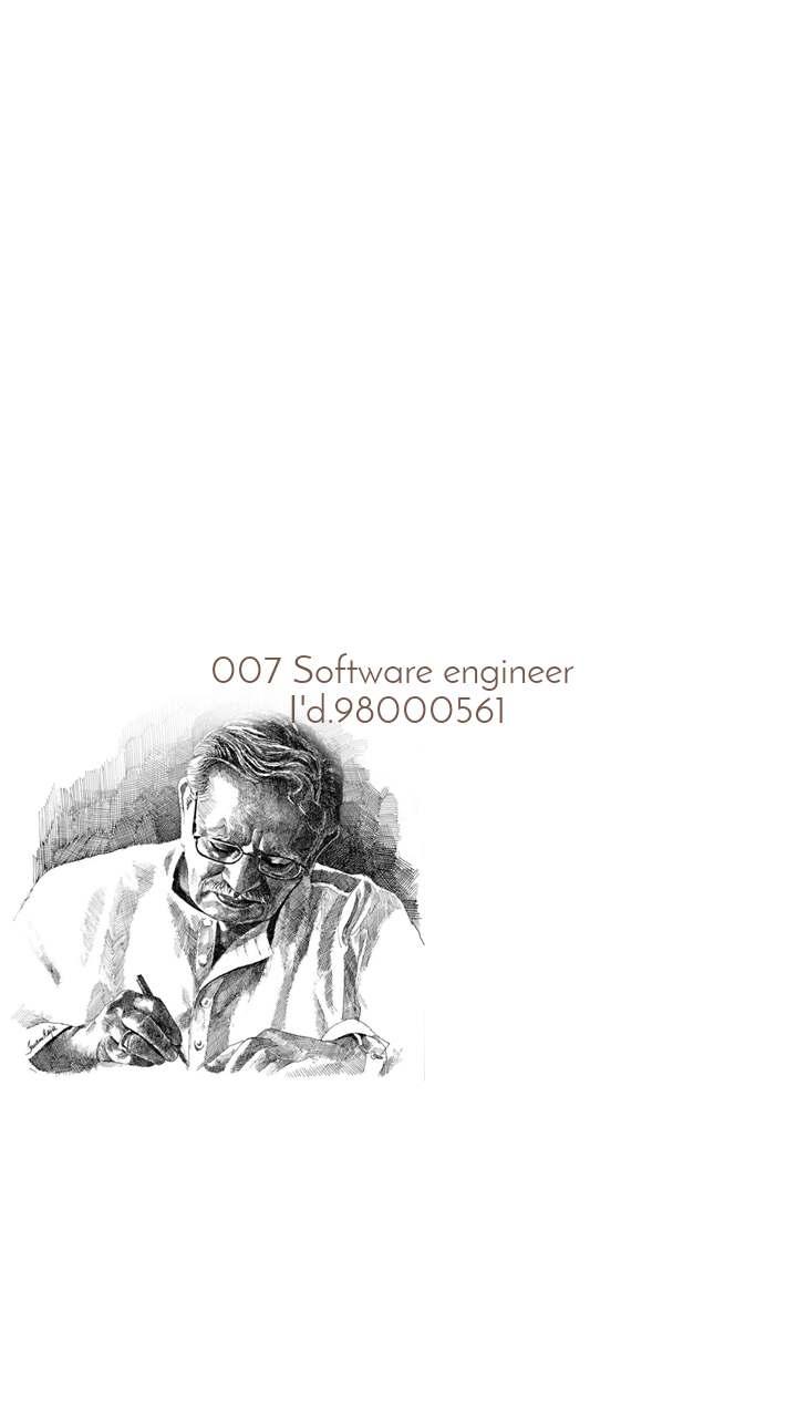007 Software engineer  I'd.98000561