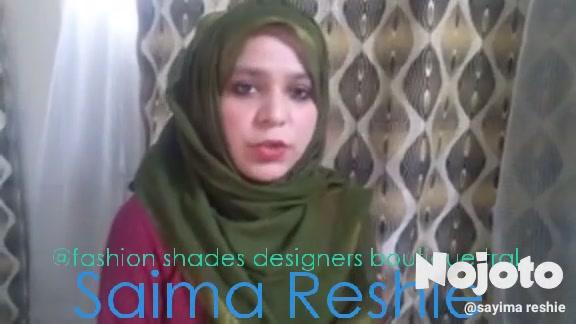 Saima Reshie @fashion shades designers boutique tral
