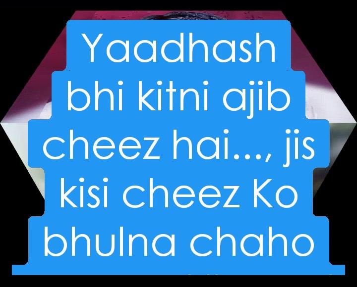 Yaadhash bhi kitni ajib cheez hai..., jis kisi cheez Ko bhulna chaho Wah puri jindagi bhul nahi pati aur ek chotisi cheez yaad karo to yaad nahi aati