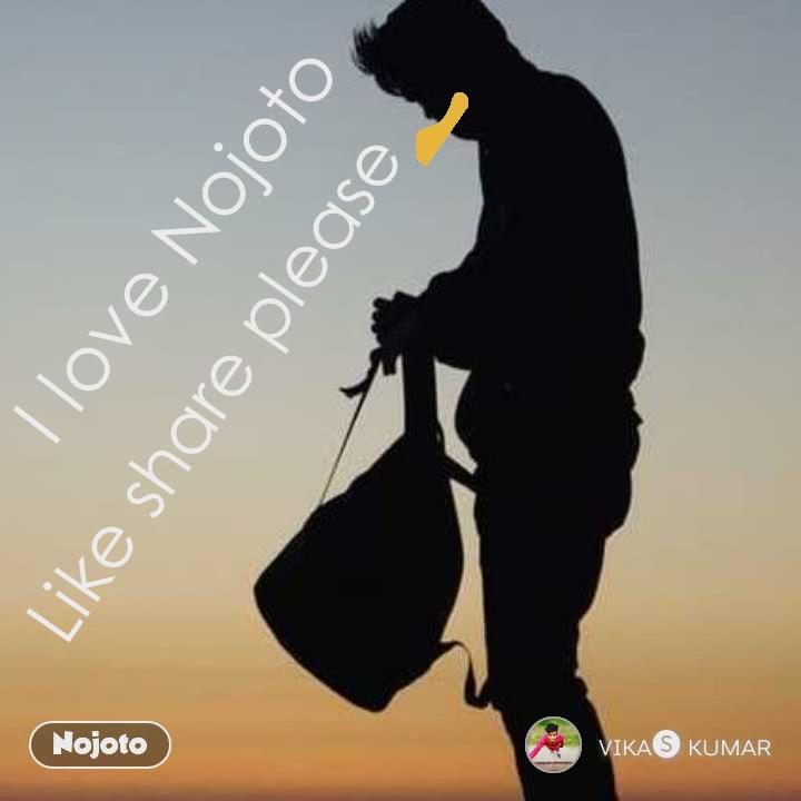 Like share please👍 I love Nojoto