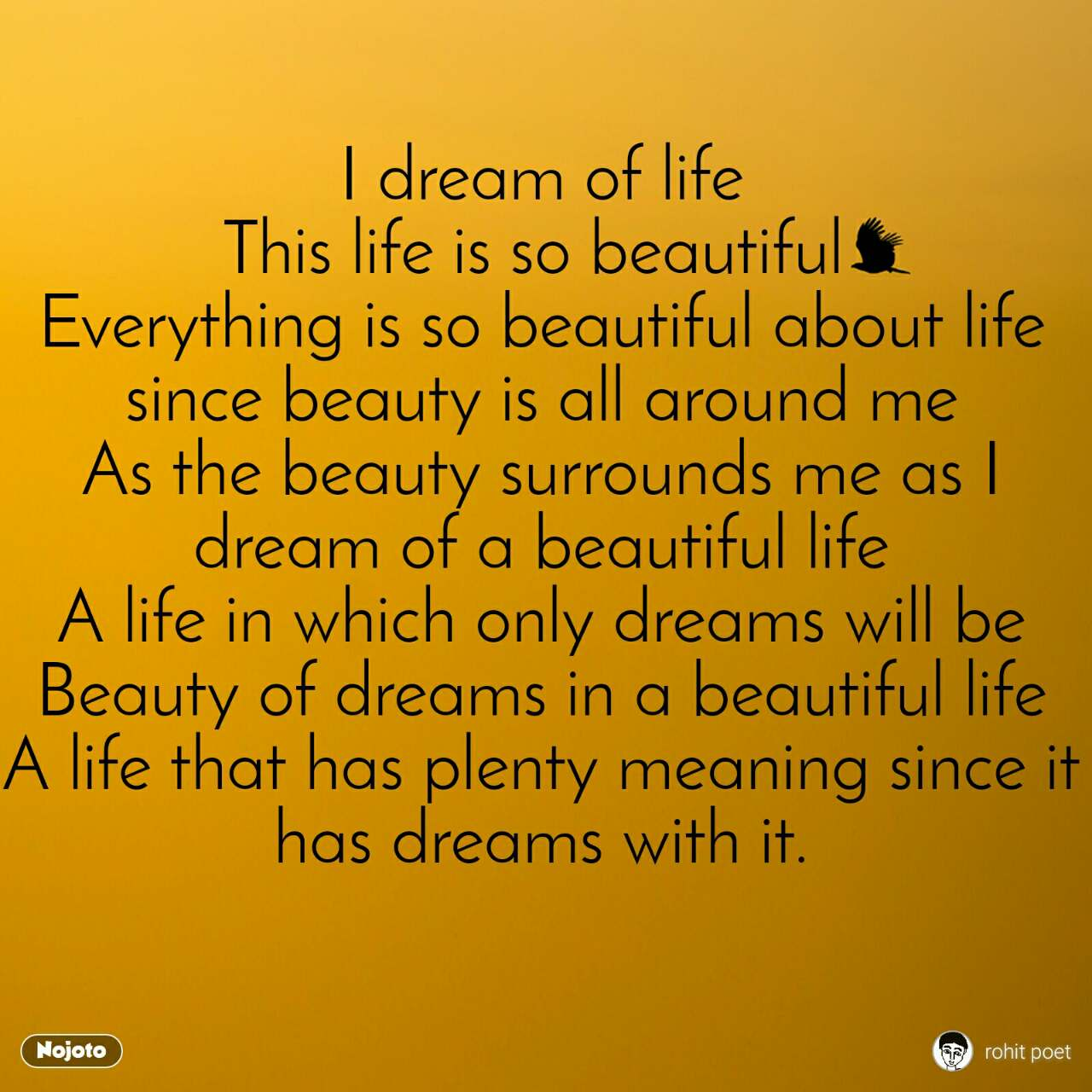 I dream of life This life is so beautiful Everyth   English Life S...
