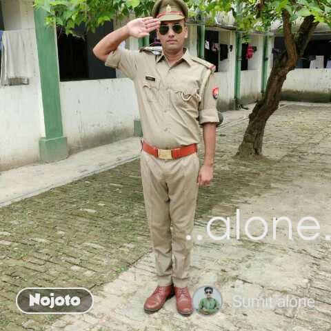 ..alone..