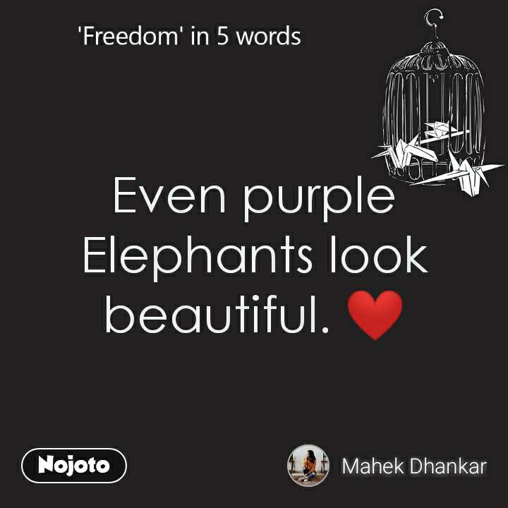 Even purple Elephants look beautiful. ❤