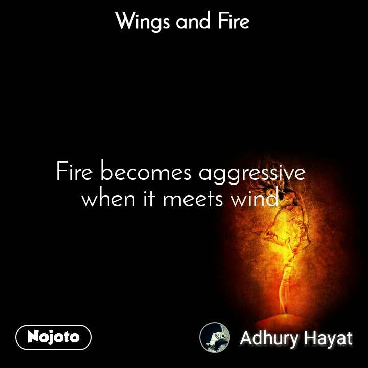Wings and Fire  Fire becomes aggressive  when it meets wind