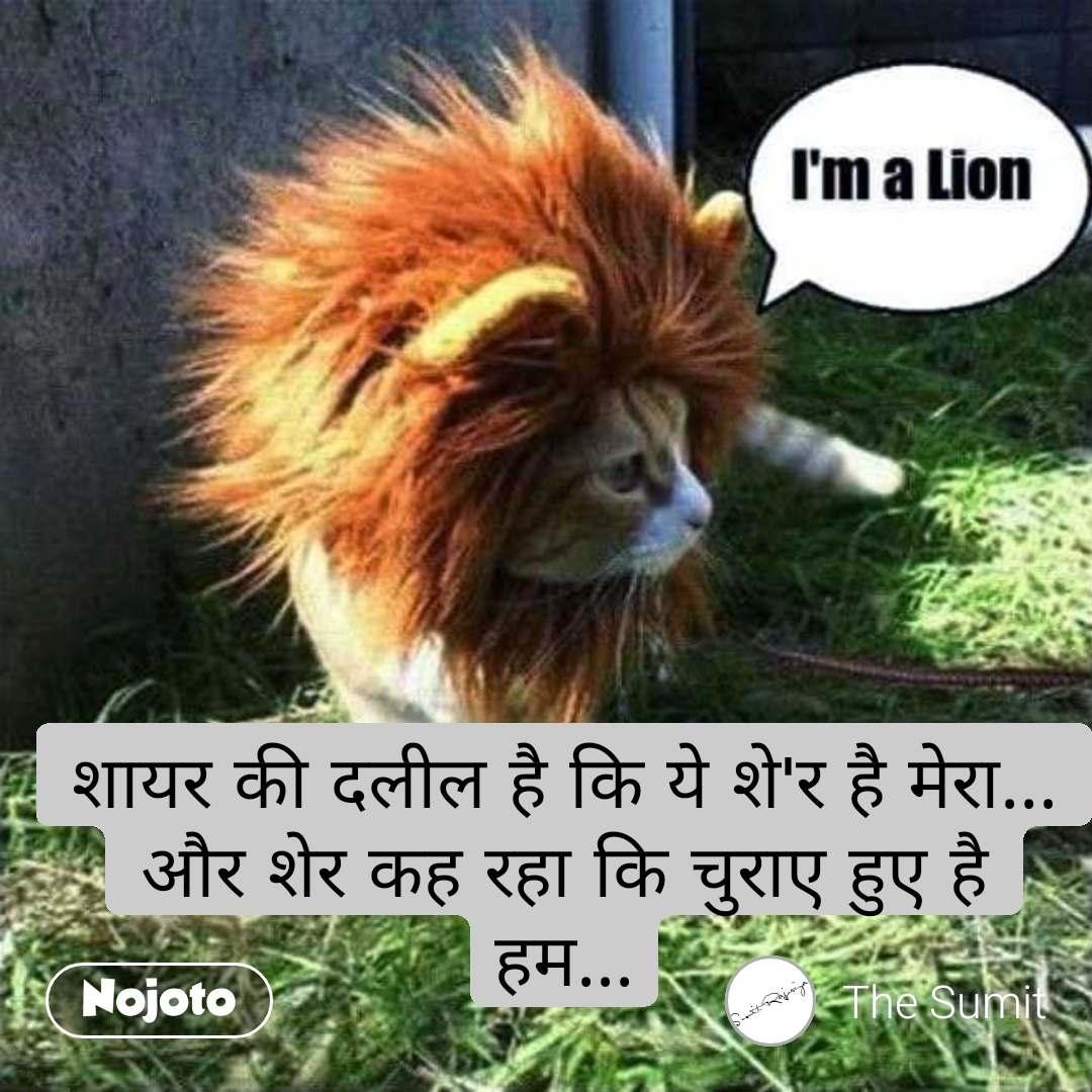 शायर की दलील है कि ये शे'र है मेरा... और शेर कह रहा कि चुराए हुए है हम...